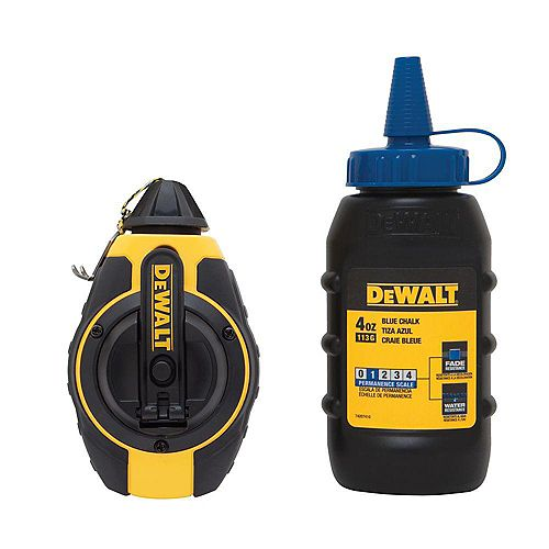 DEWALT DWHT47373L 3:1 Chalk Reel with Blue Chalk