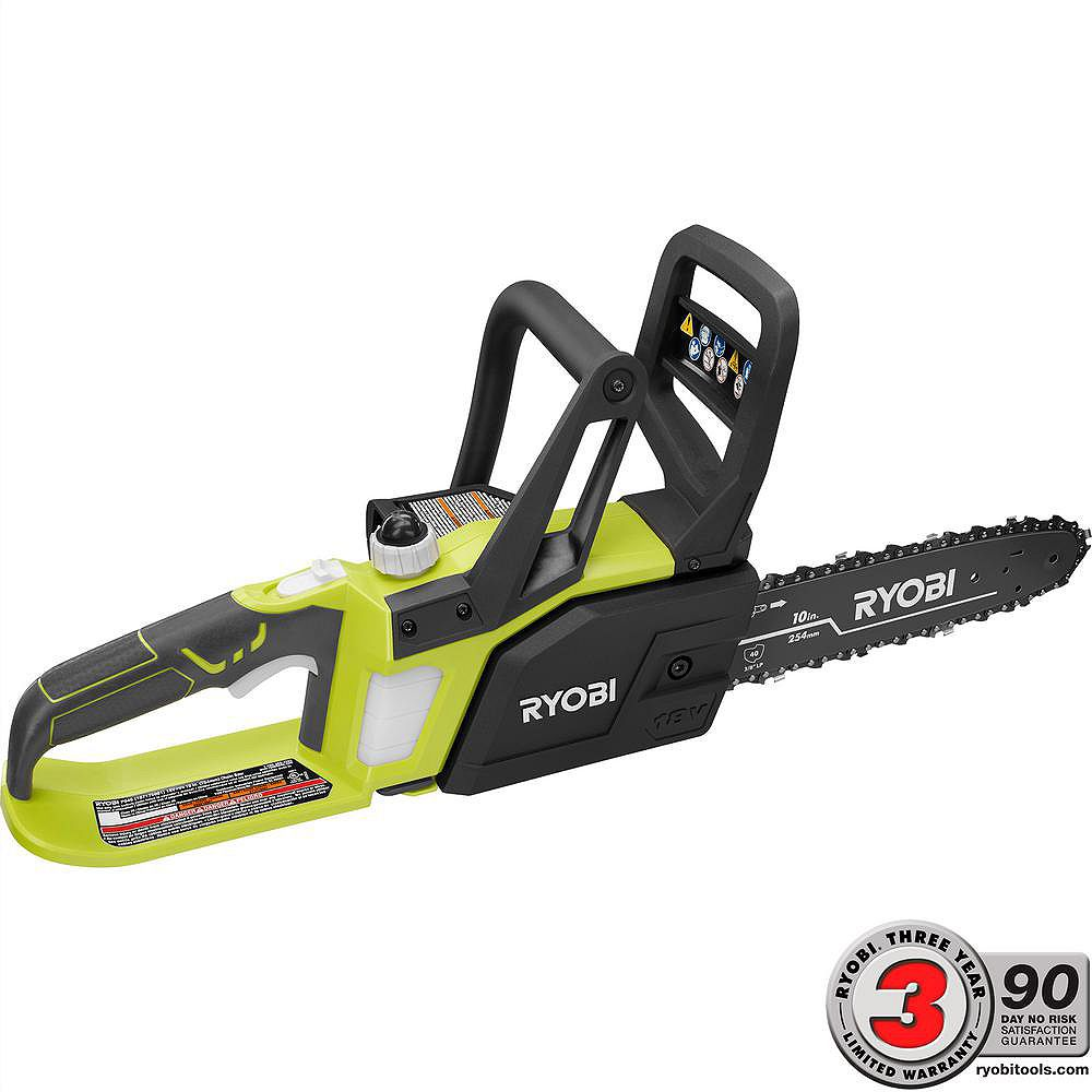 RYOBI 18V ONE+ 10-inch Lithium-Ion Cordless Chainsaw (Tool Only)