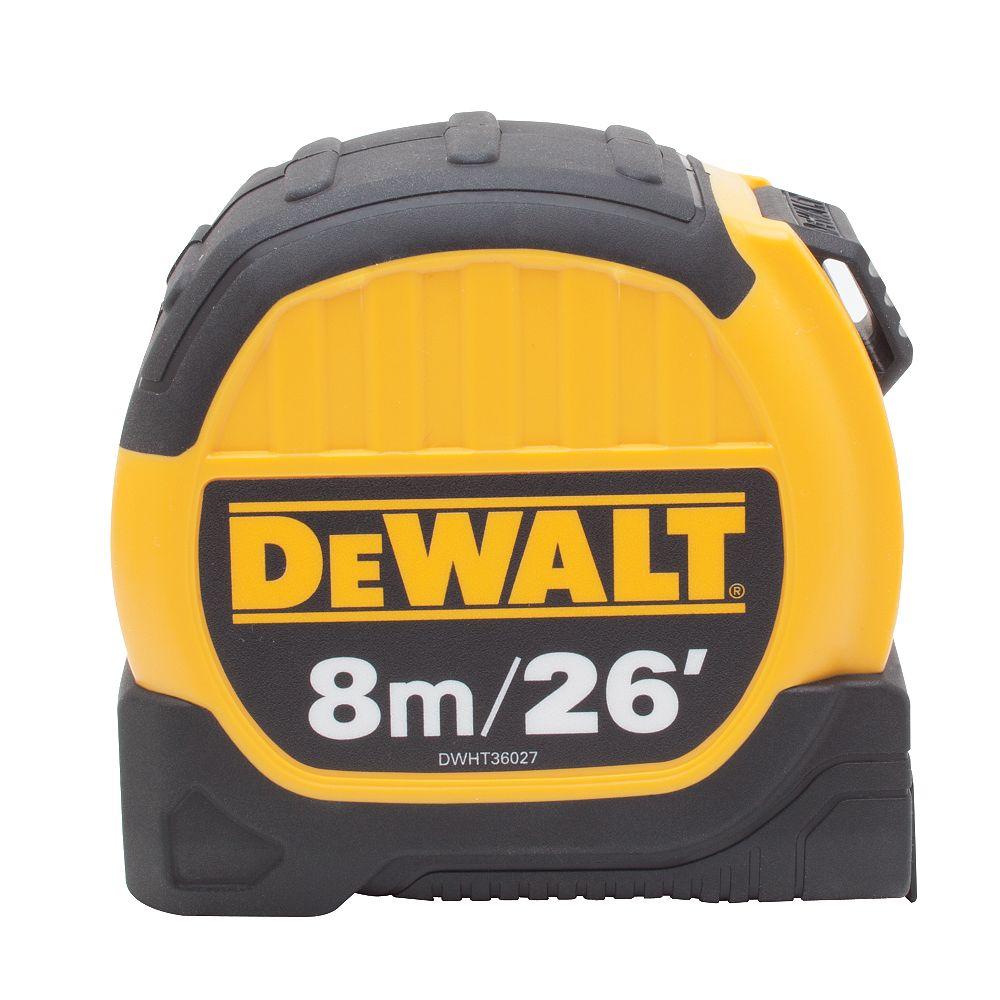 DEWALT 8M/26 ft. x 1-1/8-inch Tape Measure
