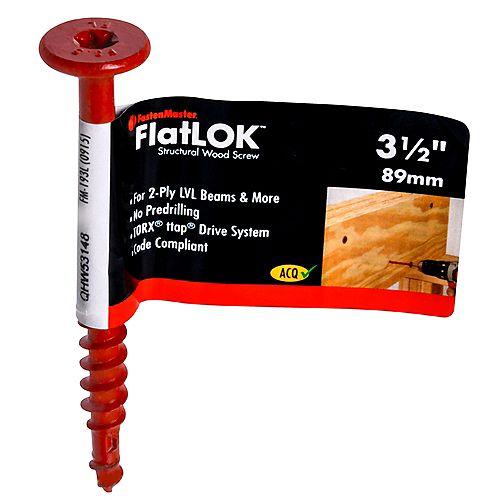 FastenMaster 3-1/2-inch Torx(R) ttap(R) Drive Flat Head FlatLOK(TM) Structural Wood Screw - 1pc
