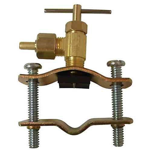 1/4 inch x 1/4 inch Lead-Free Brass Compression x Compression Self-Tapping Saddle Valve