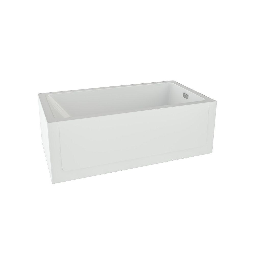 Mirolin Layla Acrylic Right-Hand Skirted Soaker Bathtub in White