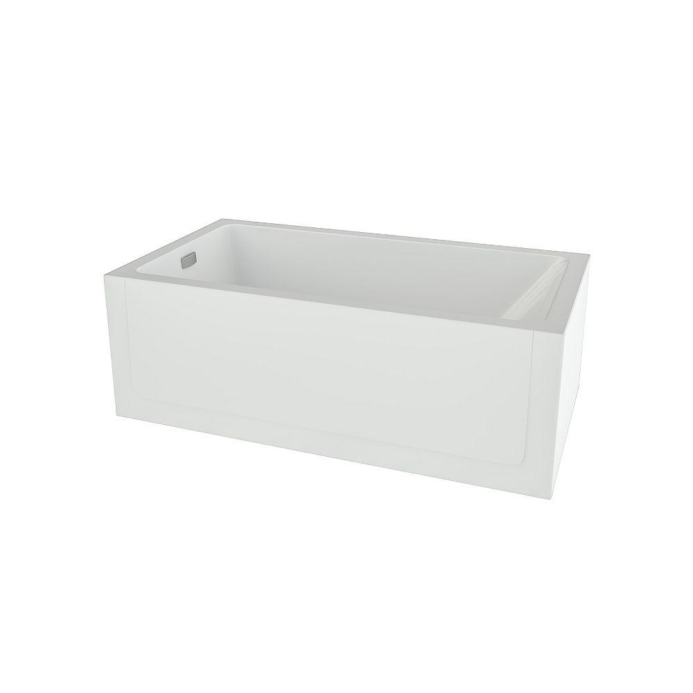 Mirolin Layla Left Hand Skirted Soaker Bathtub in White