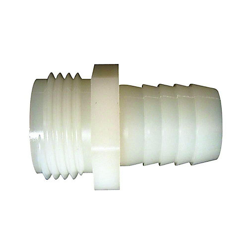Adapter Plastic 3/4 inch Male Hose Thread X 3/4 inch Barb 1/Bg