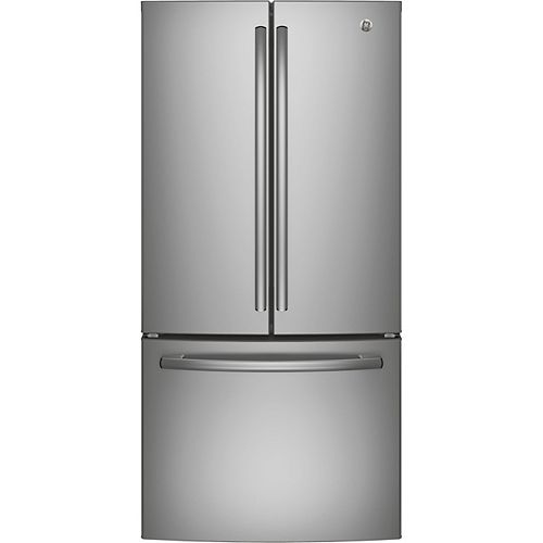 33-inch W 24.8 cu. ft. French Door Refrigerator in Stainless Steel - ENERGY STAR®