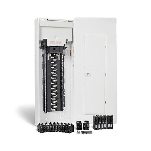 HomeLine 200A, 42 espaces - ensemble dun panneau anti-arcs HomeLine avec neutre enfichable et disjoncteurs