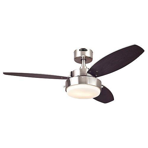Alloy 42-inch Indoor Brushed Nickel Ceiling Fan