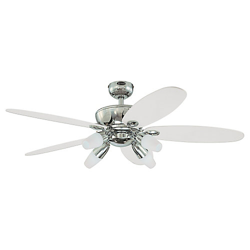 Panorama 52 in. Indoor Chrome Finish Ceiling Fan