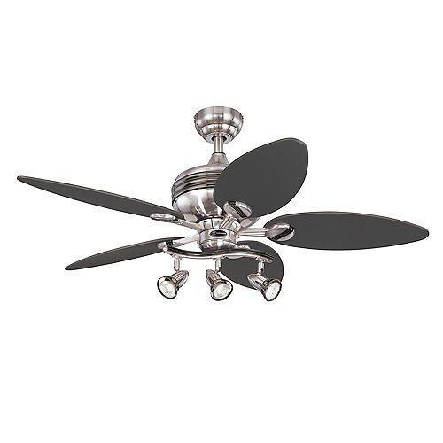 Xavier 44-inch Brushed Nickel Ceiling Fan