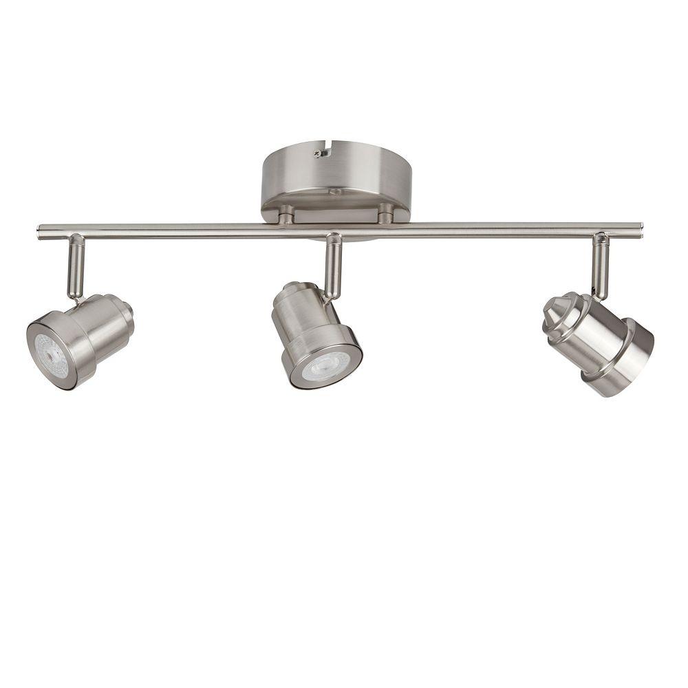 Hampton Bay Rail d'éclairage à 3lampes à DEL orientables, nickel brossé- ENERGY STAR®
