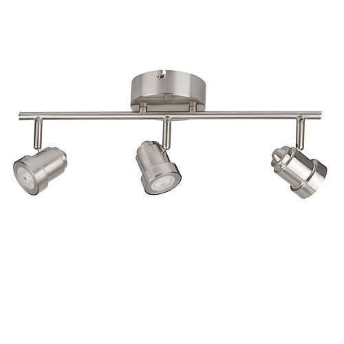Hampton Bay 3-Light LED Directional Track Light in Brushed Nickel - ENERGY STAR®