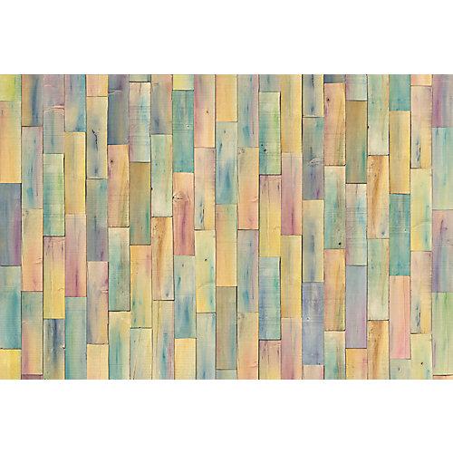 Photo Murale Painted Wood