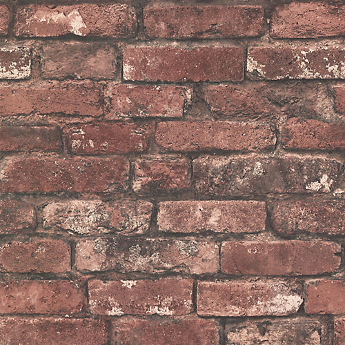 Brickwork Rust Exposed Brick Texture Wallpaper