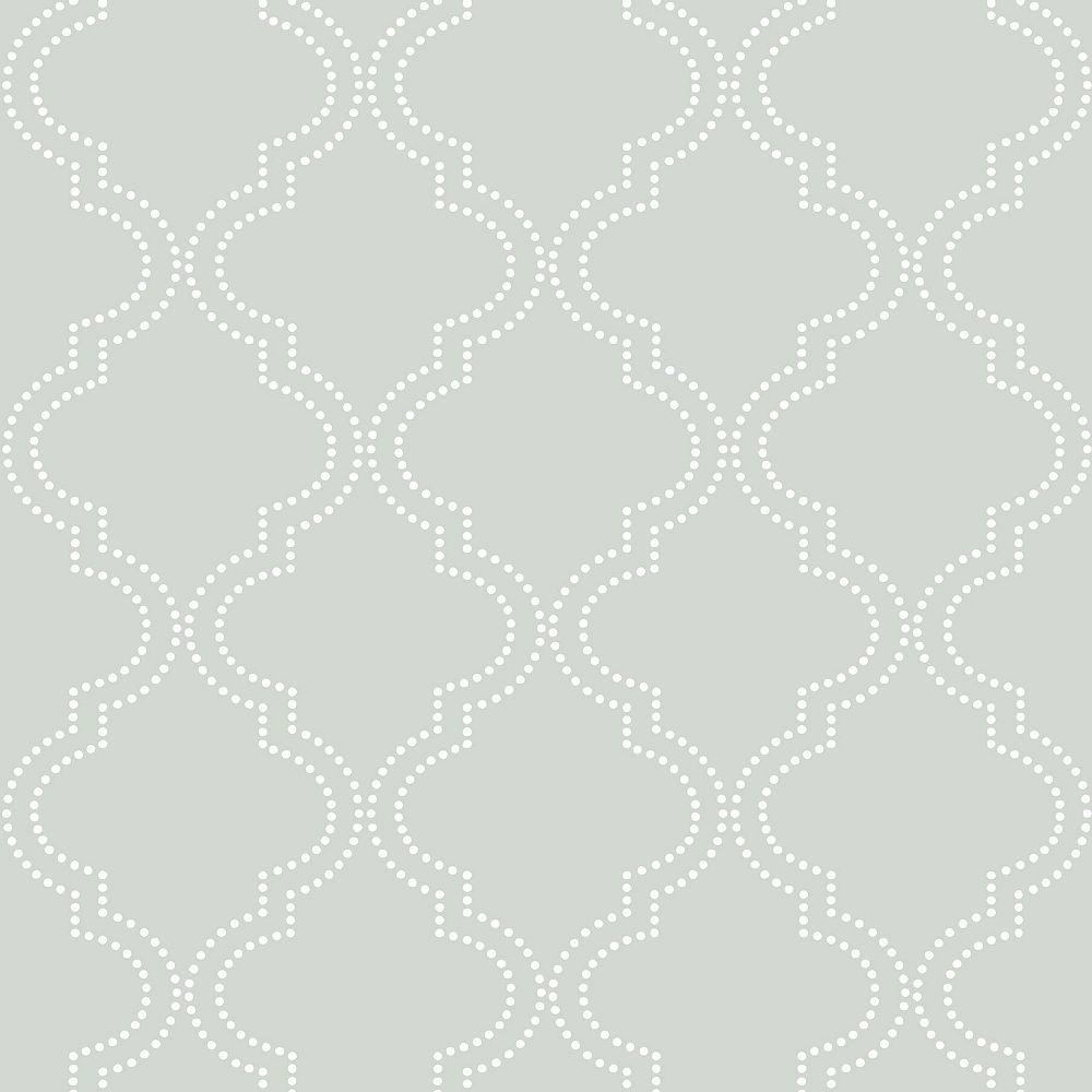 NuWallpaper Grey Quatrefoil Peel And Stick Wallpaper