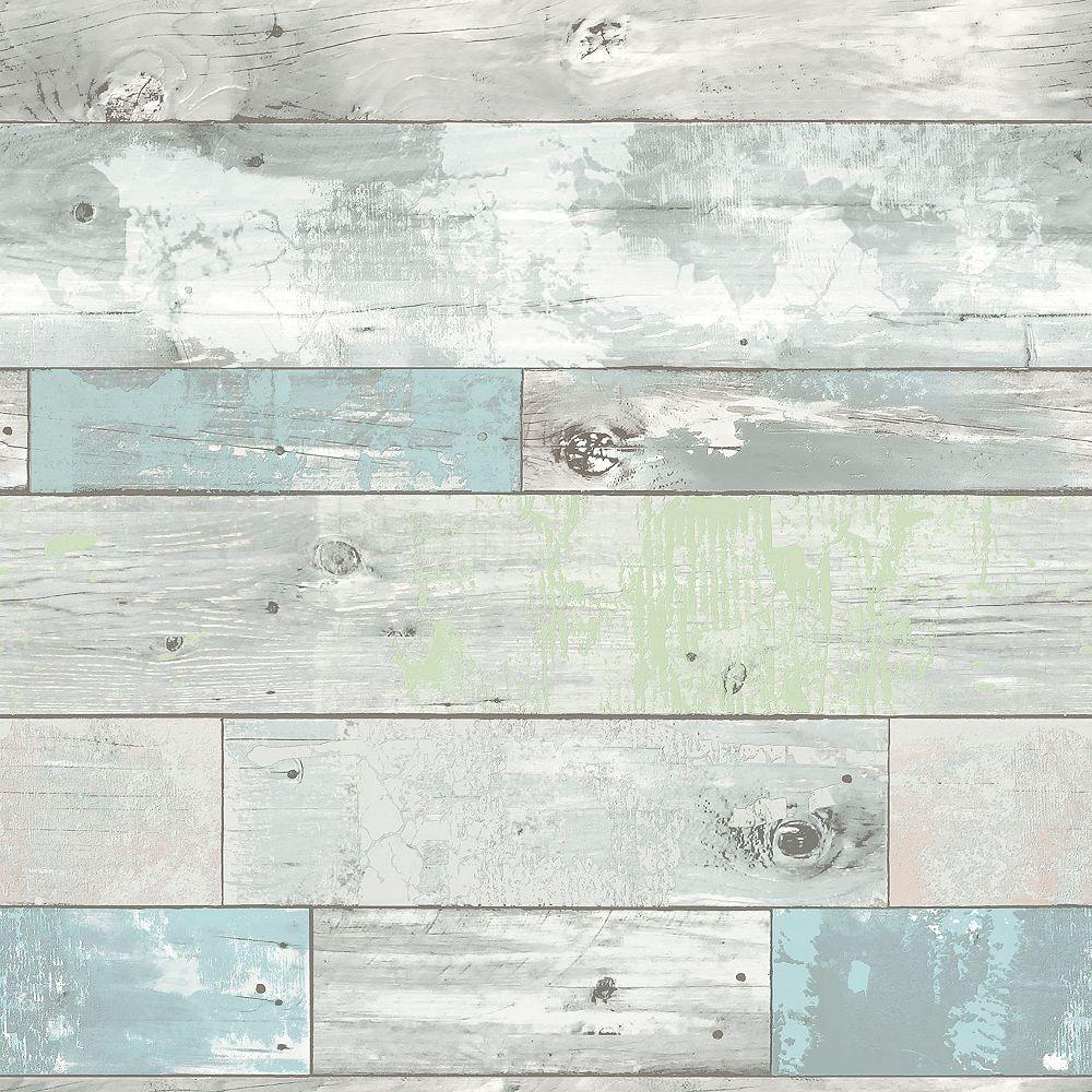 Nuwallpaper Beachwood Peler Et Coller Papier Peint Home Depot Canada