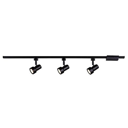 Rail d'éclairage linéaire à 3lampes à DEL orientables, noir- ENERGY STAR®