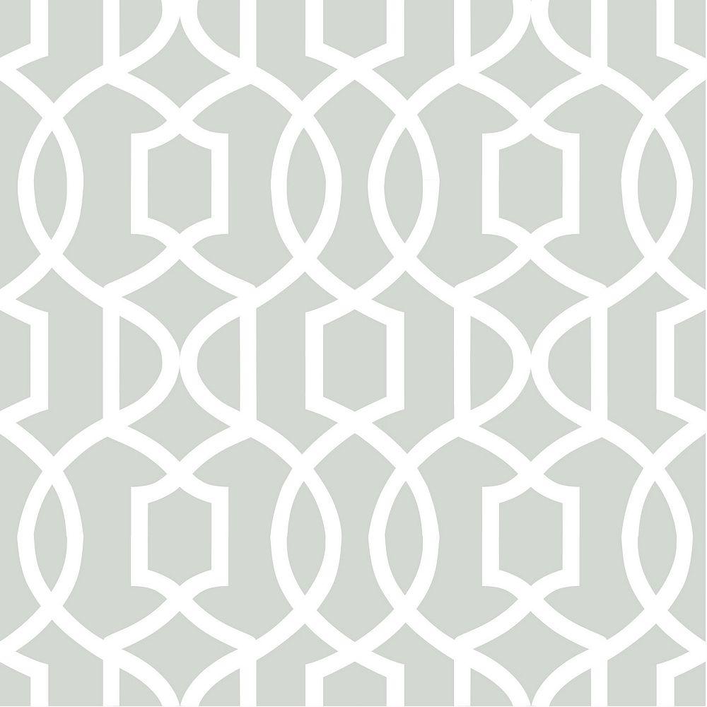 NuWallpaper Gray Grand Trellis Peel And Stick Wallpaper