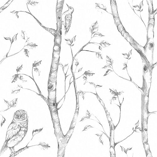 Gray Woods Peel And Stick Wallpaper