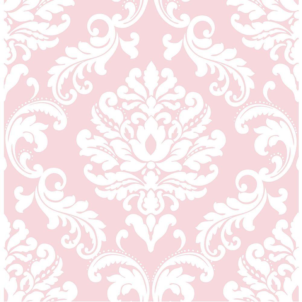 NuWallpaper Pink Ariel Peler et Coller Papier Peint