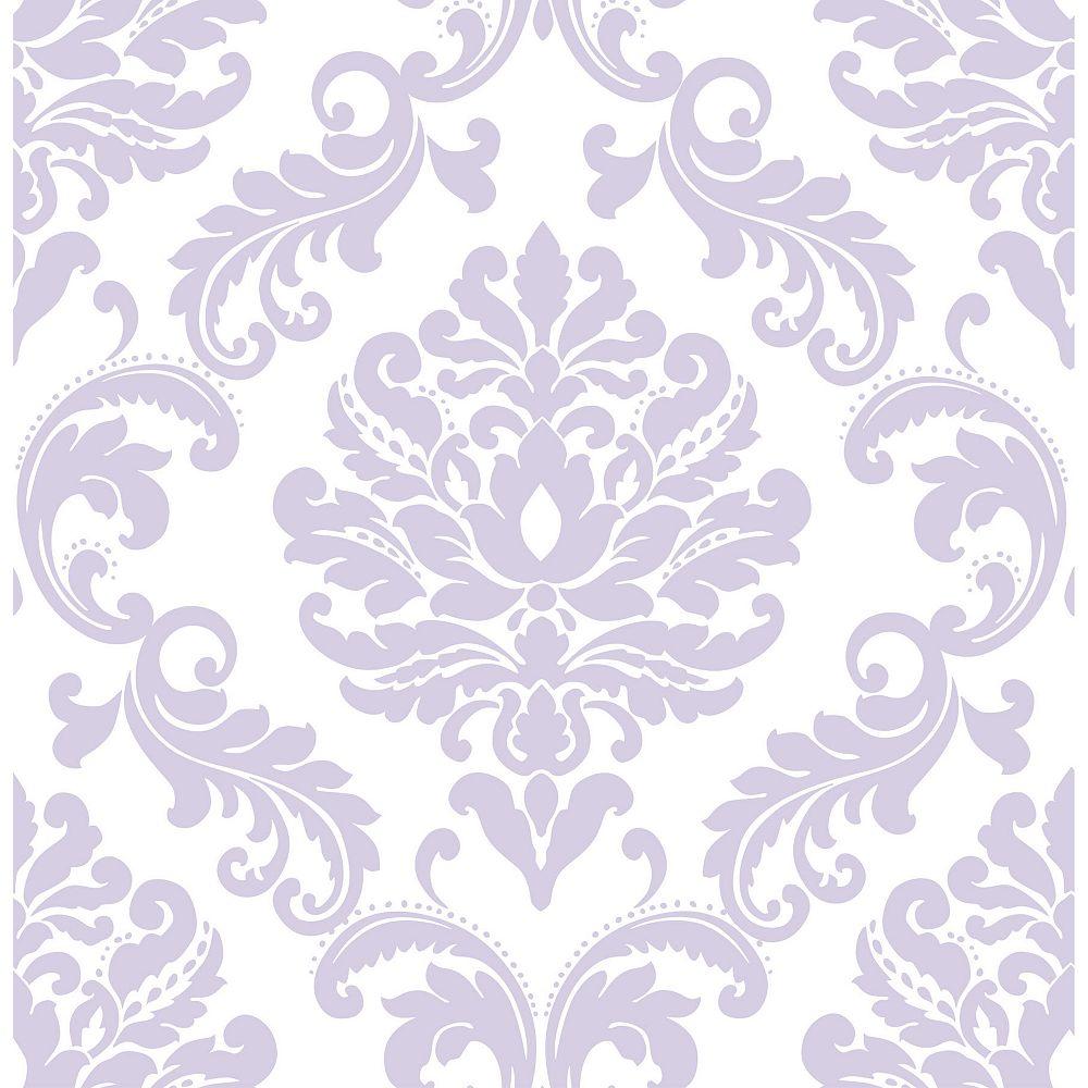 Nuwallpaper Purple Ariel Peel And Stick Wallpaper The Home Depot Canada