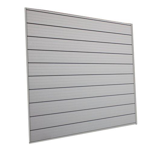 16 sq. Feet (4 Feet x 4 Feet) Track Wall Kit, Pale Silver