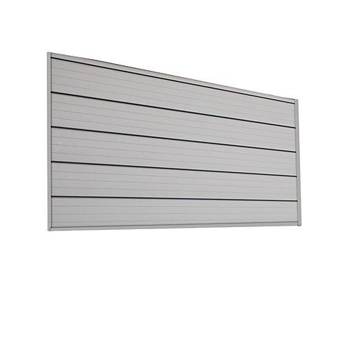 Ensemble de panneau à rail  de 0,74 m carré (1,22 m x 0,64 m), gris pâle