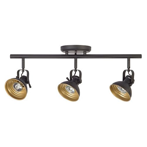Monroe 3-Light Directional LED Track Light Fixture in Oil-Rubbed Bronze - ENERGY STAR®