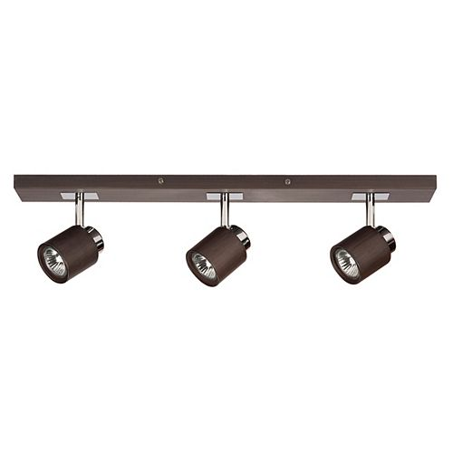Berwind 3-Light Directional LED Track Light Fixture in Faux Wood Finish - ENERGY STAR®