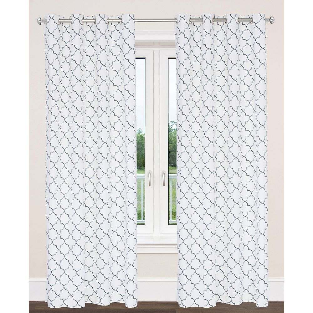 LJ Home Fashions Brighton 54-inch x 95-inch Cotton Grommet Curtain (Set of 2)