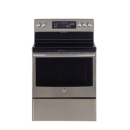 30-inch 5.0 cu.ft. Single Oven Electric Range with Self-Cleaning Convection Oven in Slate