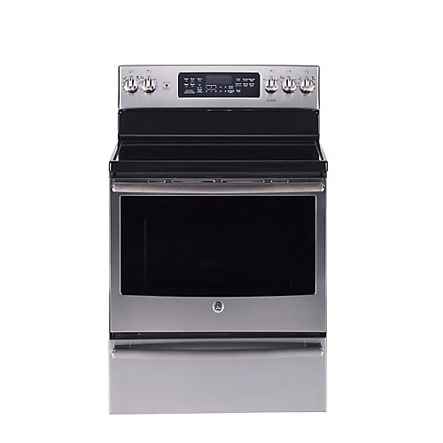 30-inch 5.0 cu. ft. Single Oven Electric Range with Self-Cleaning Convection Oven in Stainless Steel