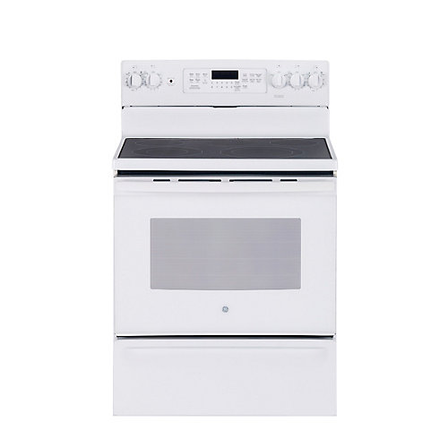 30-inch 5.0 cu. ft. Single Oven Electric Range with Self-Cleaning Convection Oven in White