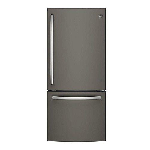 30-inch W 21 cu. ft. Bottom Freezer Refrigerator Fingerprint Resistant in Slate - ENERGY STAR®