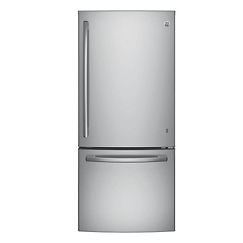 30-inch W   20.6 cu. ft. Bottom Freezer Refrigerator in Stainless Steel - ENERGY STAR®