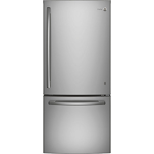 30-inch W 20.9 cu. ft. Bottom Freezer Refrigerator in Stainless Steel - ENERGY STAR®