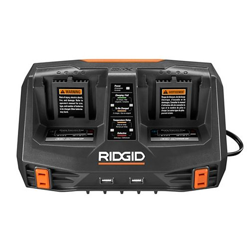 GEN5X Dual Port Sequential Battery Charger with Dual USB Ports