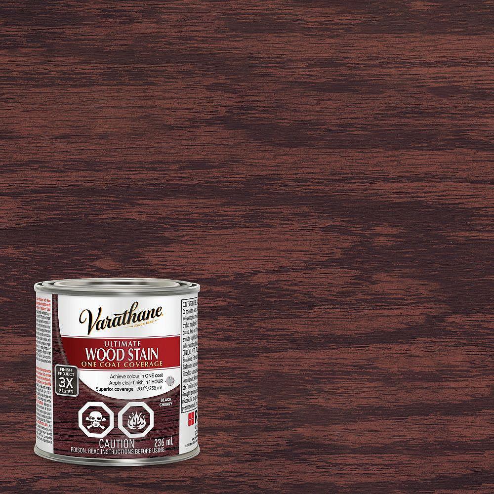 Varathane Ultimate Oil-Based Interior Wood Stain in Black Cherry, 236 mL