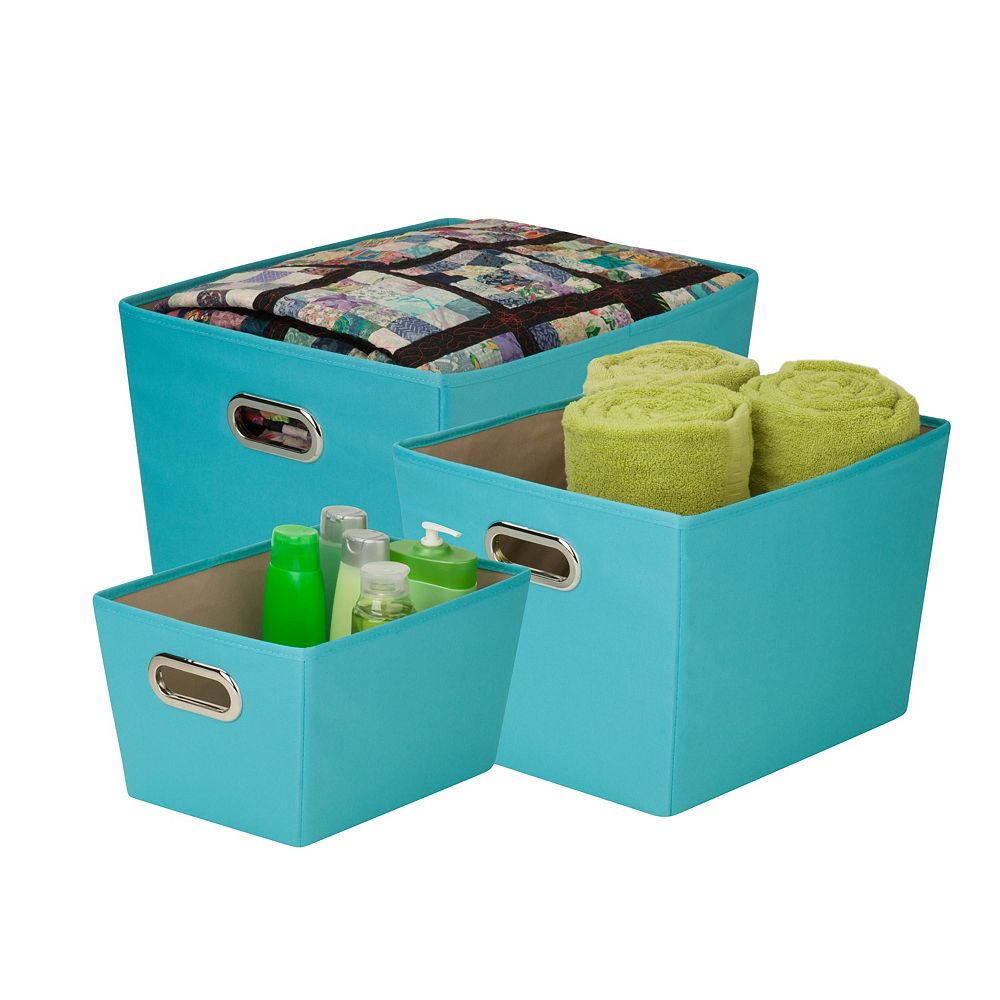 Honey-Can-Do Organizing Tote Kit in Turquoise