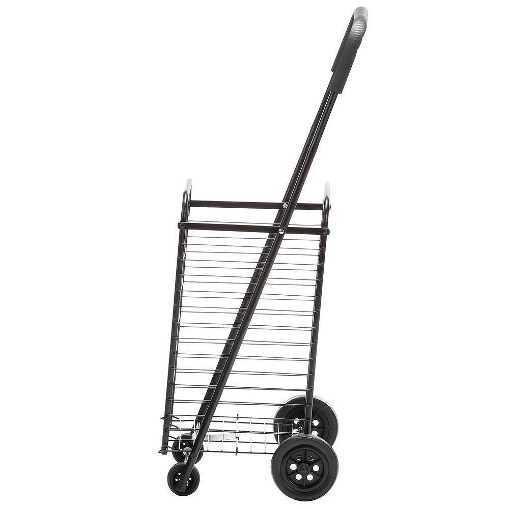Honey-Can-Do Steel Rolling 4-Wheel Utility Cart in Black