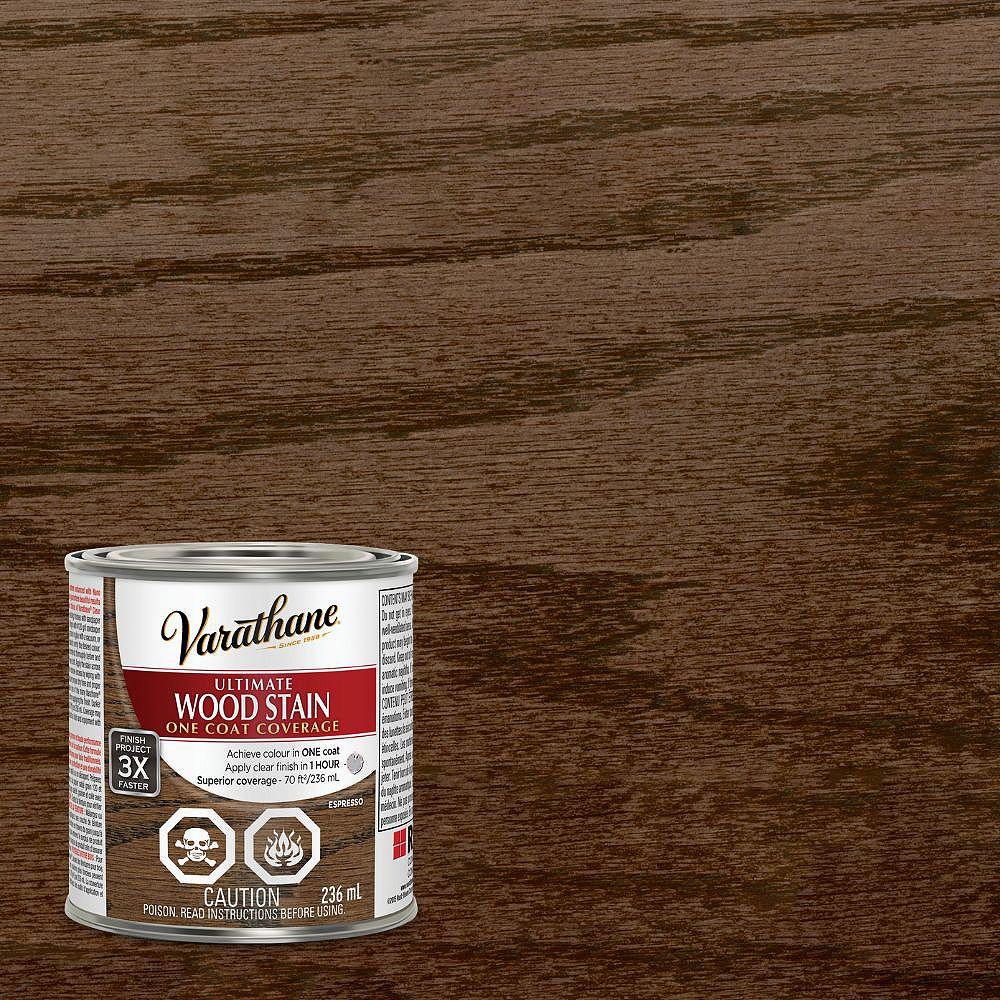 Varathane Ultimate Teinture d'intérieur pour bois à l'huile en Espresso, 236 mL