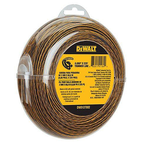 0.080-inch x 225 ft. Replacement Line for Cordless Battery Operated Bump Feed String Grass Trimmer/Lawn Edger