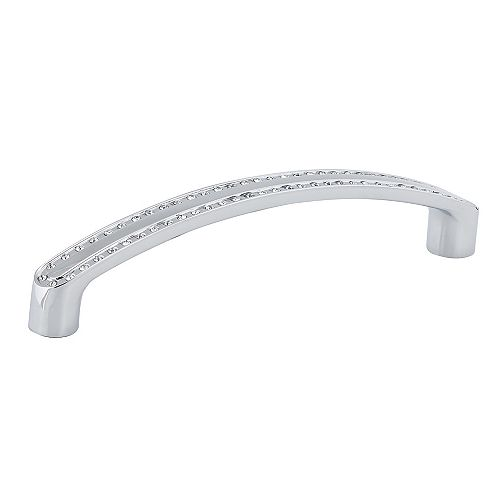 Richelieu Contemporary Crystal and Metal Pull 5 1/32 in (128 mm) CtoC - Crystal Chrome  - Merritt Collection