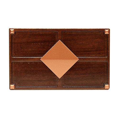 Wireless or Wiredd Door Bell - Medium Red Oak Wood with Diamond Medallion