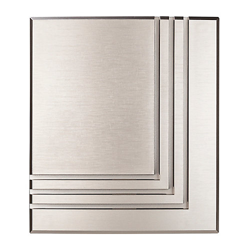 Wireless or Wired Door Bell, Brushed Nickel