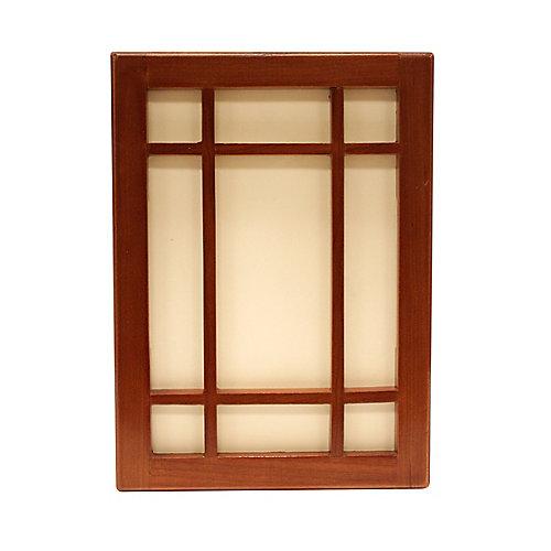 Wireless or Wired Door Bell - Craftsman Style Medium Cherry Wood