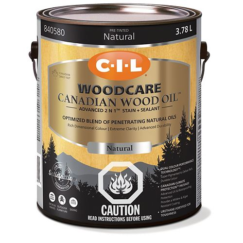 CIL Woodcare Canadian Wood Oil - Natural 3.78 L-840580