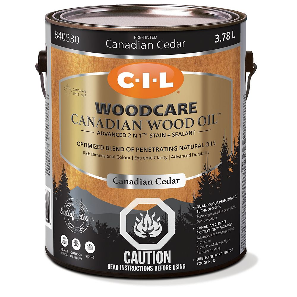 CIL Woodcare Canadian Wood Oil - Canadian Cedar 3.78 L-840530