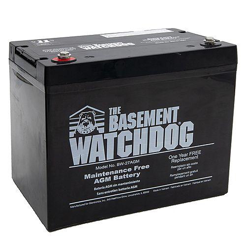 Basement Watchdog Maintenance Free (AGM) Standby Battery
