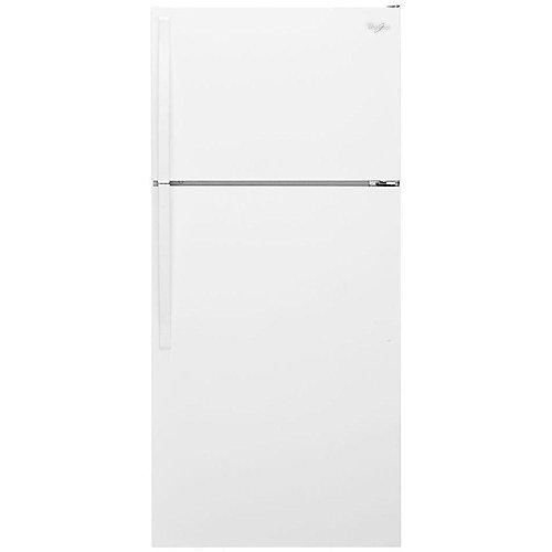 28-inch W 14 cu. ft. Top Freezer Refrigerator in White