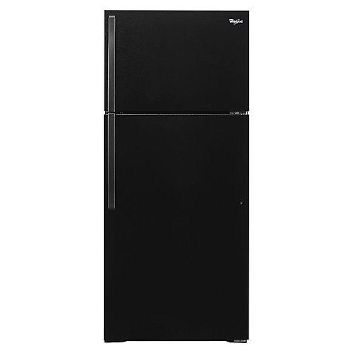 28-inch W 14 cu. ft. Top Freezer Refrigerator in Black